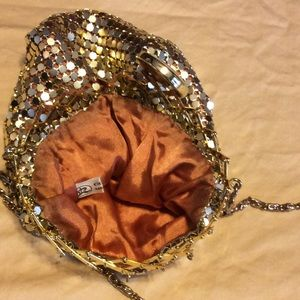 Comco Bags - Comco Vintage 1930's Gold Mesh Cross Body Pouch